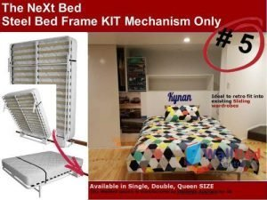 The NeXt Wall Bed Frame Mechanism Only - Double