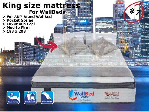 King Size Mattress for WallBeds from www.thewallbedcentre.com