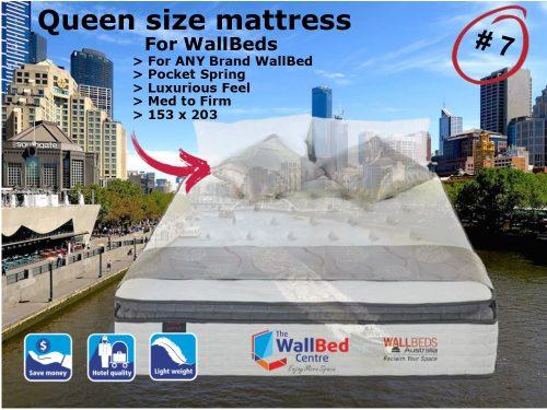 Queen Size Mattress for WallBeds from www.thewallbedcentre.com