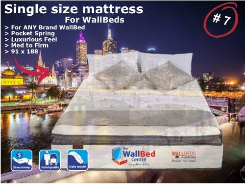 Single Size Mattress for WallBeds from www.thewallbedcentre.com.au